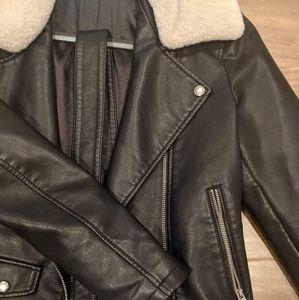 Top Shop Black Faux Leather Jacket